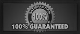 100% Satisfaction Guarantee - Click Here For Details